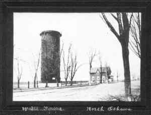 Water tower N Oshawa 1905